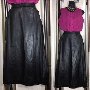HP 4/4❤️Leather City Genuine Leather Sz 16 Skirt