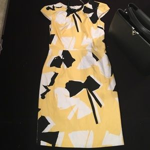 Dresses & Skirts - Chetta B  Yellow\White\Black Print Sheath Dress 4