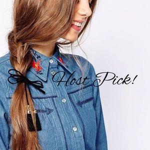 Accessories - Tassel bow hair tie
