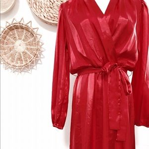 Vintage red dress from the 70's