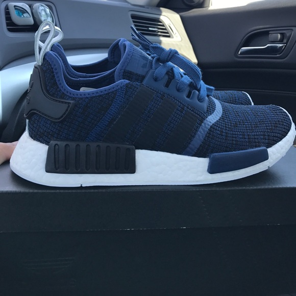 Adidas Nmd R1 Mystery Blue Navy Mens Size 12 BY2775 | eBay