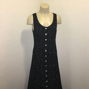 JBS Vintage Galaxy Black Polka Dot Maxi Dress