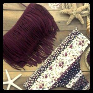 Other - purple fringe bikini