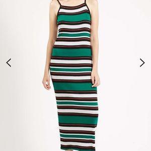 Topshop Striped Maxi Dress