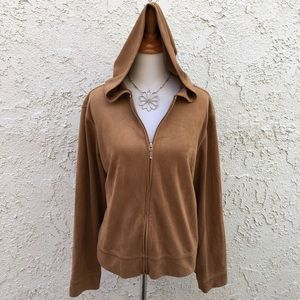 New York & Company Jackets & Blazers - Suede Like Zip Up Hoodie