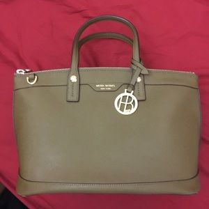 Henri Bendel West 57th St Satchel in Olive