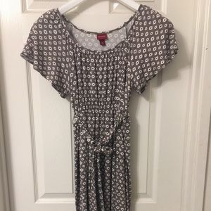 Merona brown patterned light dress S