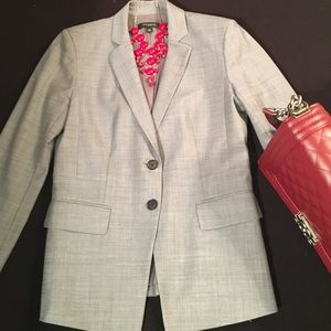 Jackets & Blazers - Tropical Wool Ann Taylor Gray Suit, Size 2 0P