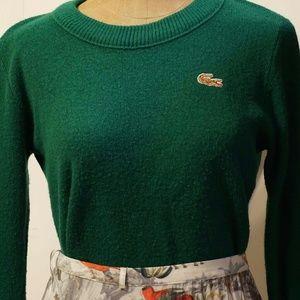 Izod Lacoste green pullover sweater vintage rare!