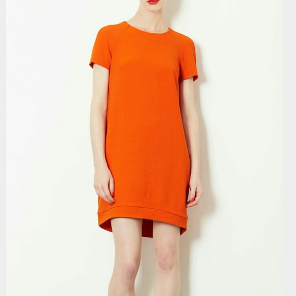 Topshop Dresses Crepe Tee Shift Dress Orange Poshmark