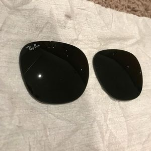 NWOT Ray Ban club master shade lenses