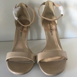 Nude heels by Madden girl