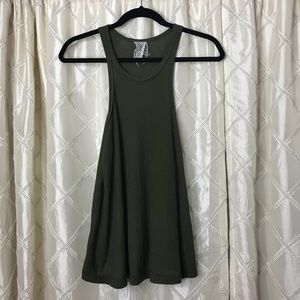 Free People Olive Ribbed Tank
