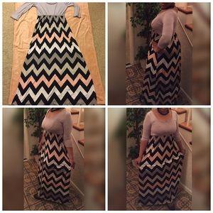 Dresses & Skirts - Chevron Stripe Maxi Dress