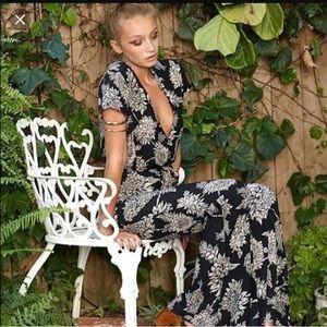 Novella Royale Pants - Novella Royala Black Dahlia jumpsuit