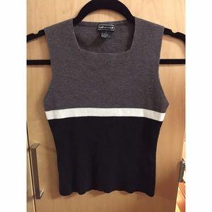 Tops - Square neck vintage knit tank top