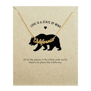 Jewelry - California Necklace - Silver or Gold