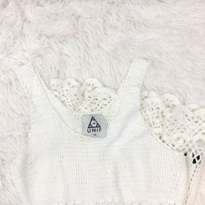 UNIF l UO l boardwalk white crochet dress