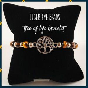 Jewelry - Women tiger eye beads tree of life boho bracelet