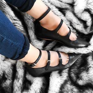 Topshop Shoes - Topshop black leather flats