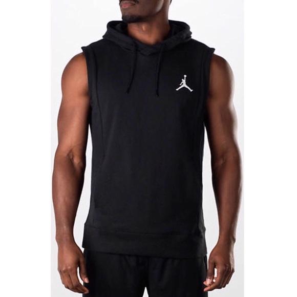 408d0c0a1c5 Nike Shirts   Jordan Pullover Sleeveless Sweatshirt Hoodie   Poshmark