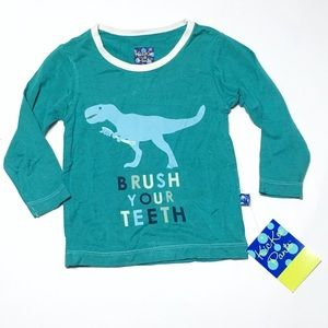 Kickee Pants Other - Kickee Pants Dino Brush Your Teeth Tee