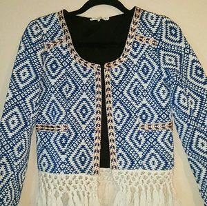 Tularosa Jackets & Blazers - Tularosa Santa Fe Tribal Fringe Boho Jacket EUC