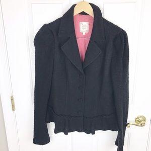 Nanette Lepore Jackets & Blazers - Nanette Lepore black sweater jacket peplum size L