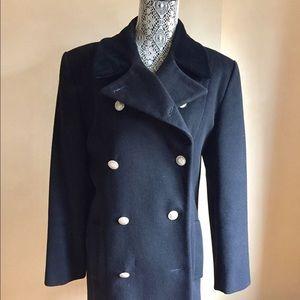 ANNE KLEIN SHORT LENGTH BLACK COAT