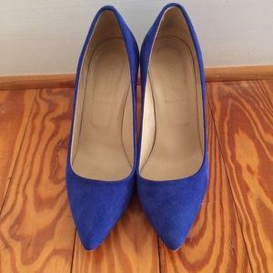 J.Crew Everly Blue Suede Heels
