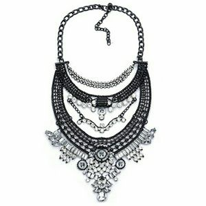 C.C. Boutique  Jewelry - Boho Silver and Black statement necklace