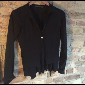 Flirty blazer button up blouse