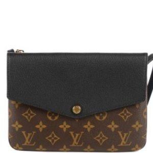 Louis Vuitton Louis Vuitton Twice Clutch Noir Monogram
