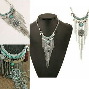 NOW AVAILABLE Boho Dreamcatcher Waterfall Necklace