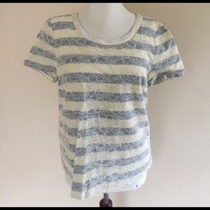 Marc by Marc Jacobs Tops - LN Marc by Marc Jacobs lace overlay striped shirt