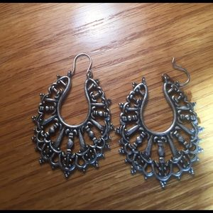 Southwest Silver Hoop Earrings