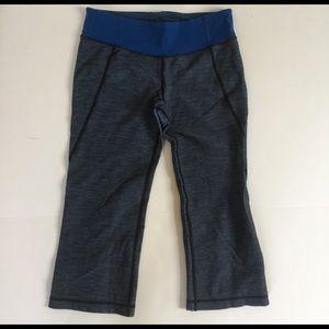 lululemon athletica Pants - Lululemon gather and crow crop pant blue size 10