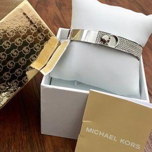 Michael Kors Jewelry - 💎MICHAEL KORS Astor Pavé Silver Bracelet