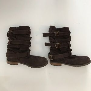 Urban Outfitters Slouchy suede boots - brown 9