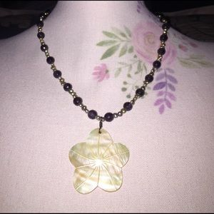 Ivory Flower Beaded Necklace