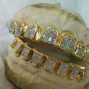 Solid gold grillz and custom jewelry NWT