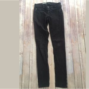 AG denim the jegging gray corduroy jeans pants 25