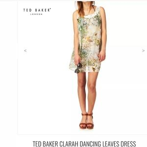 New nwot Ted baker dancing leaves dress Sz S small