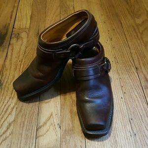 Frye Shoes - Frye belted harness mule