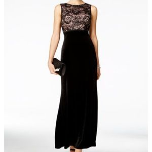 Nightway Dresses & Skirts - Nightway Sequined Lace Velvet Gown