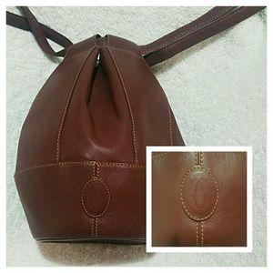 Cartier Handbags - CARTIER Drawstring Bucket Round Shoulder bag