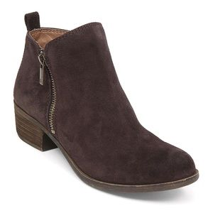 Lucky brand dark brown suede Basel bootie NWT sz 8