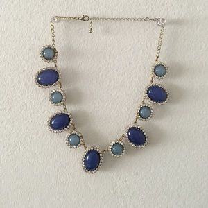 Blue toned statement necklace