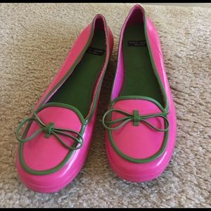 Kate Spade Pink & Green Rubber Loafers