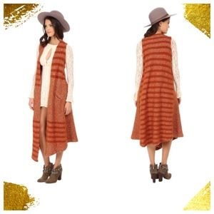 Free People Jackets & Blazers - Free People Queens Maxi Vest Cardigan size S NEW